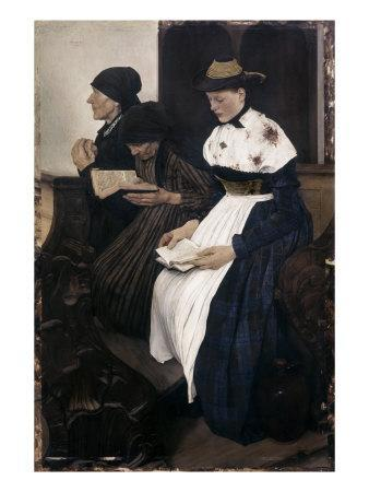 Three Women in Church
