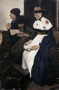 Three Women in Church by Wilhelm Leibl