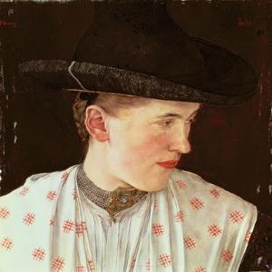 Head of a Peasant Girl, c.1880 by Wilhelm Maria Hubertus Leibl