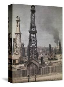 Beautiful Oil Rigs / Fields canvas artwork for sale, Posters and