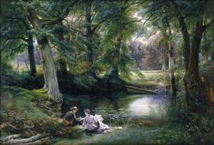 The Art Lesson by Wilhelm Trautschold