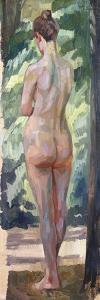 Standing Nude by Wilhelm Trubner