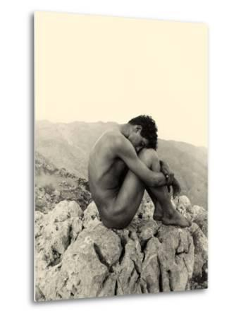 Study of a Male Nude on a Rock, Taormina, Sicily, C.1900