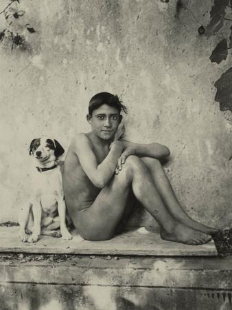 Study of a Nude Boy with Dog, C.1901