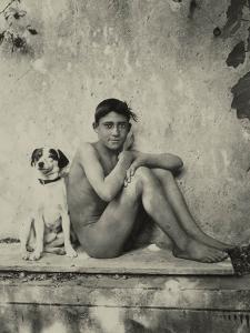 Study of a Nude Boy with Dog, C.1901 by Wilhelm Von Gloeden