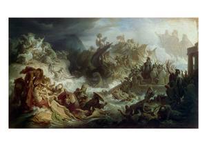 The Naval Battle of Salamis, about 1858 by Wilhelm Von Kaulbach