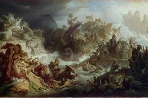 The Naval Battle of Salamis, C. 1858 by Wilhelm Von Kaulbach
