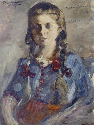 Wilhelmine with Hair in Braids, 1922-Lovis Corinth-Giclee Print