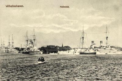 Wilhelmshafen Niedersachsen, Kriegsschiffe Im Hafen--Giclee Print