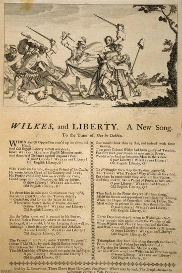 Wilkes and Liberty, a New Song--Giclee Print