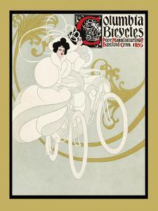 Columbia Bicycles. Pope Manufacturing Co Hartford, Conn. 1895 by Will Bradley