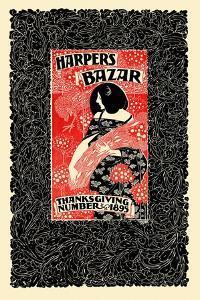 Harper's Bazar, Thanksgiving Number, 1895 by Will Bradley