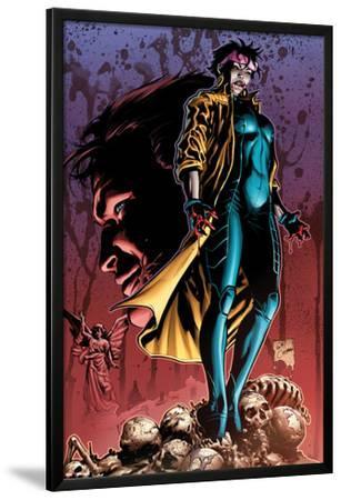 X-Men No.24 Cover: Jubilee Standing on Skeletons