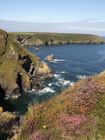 England, Cornwall; Hell's Mouth on the Wild Stretch of Coast Between Portreath and Hayle