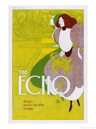 Poster for the Echo, Chicago's Humorous and Artistic Fortnightly