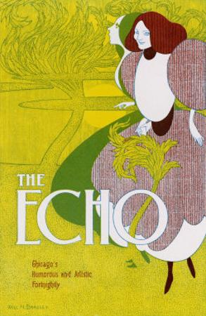 Poster for the Echo, Chicago's Humorous and Artistic Fortnightly by Will H^ Bradley