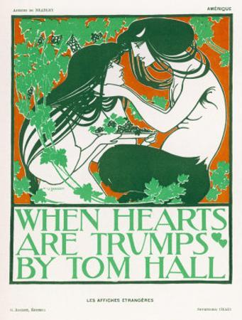 Poster for Tom Halls When Hearts are Trumps by Will H^ Bradley