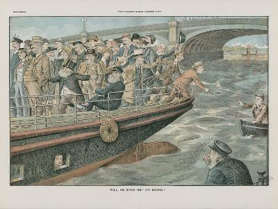 Will He Ever Get on Board?--Giclee Print