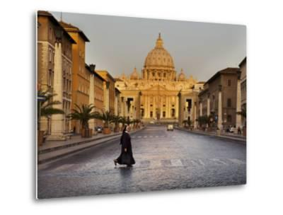 Nun Crossing Road in Front of St. Peter's Basilica