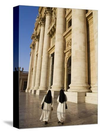 Nuns in Piazza San Pietro in Front of St.Peter's Basilica