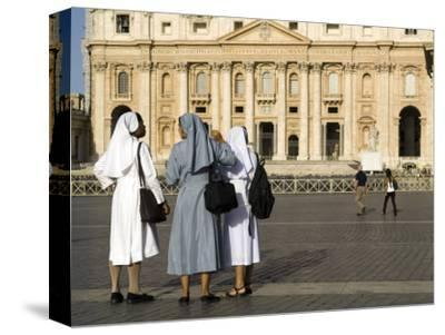 Nuns with St Peter's in Background