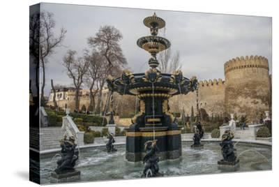 A Fountain Flows in Baku's Old City
