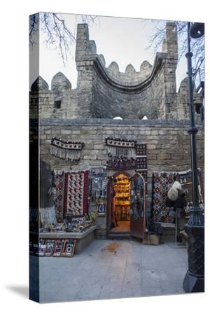 Exterior of a Carpet Shop in Baku's Old City