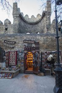 Exterior of a Carpet Shop in Baku's Old City by Will Van Overbeek