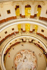 Inside the Rotunda of the Texas State Capitol Building by Will Van Overbeek