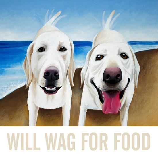Will Wag For Food-Mark Ulriksen-Art Print
