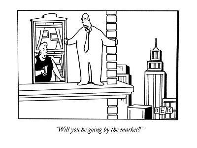 """""""Will you be going by the market?"""" - New Yorker Cartoon-Bruce Eric Kaplan-Premium Giclee Print"""