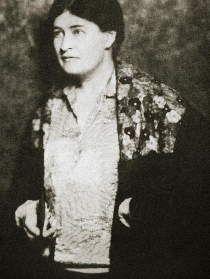 Willa Cather, American novelist, mid 1920s-Unknown-Photographic Print