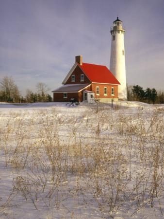 Tawas Point Lighthouse in Winter, Tawas Point State Park, MI