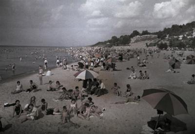 Hoards of Chicagoans Flee to Lake Michigan to Beat the City Heat by Willard Culver