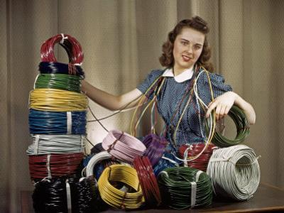 Woman Showcases New Wrapping Wires and Cables by Willard Culver