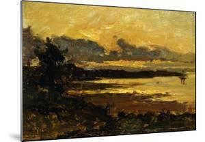 Sunset at Manchester, Massachusetts, from Sandy Hollow, 1877 by Willard Leroy Metcalf