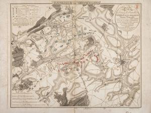 Battle of Waterloo, Map of the Battlefield, Engraved by Jacowick, 1816 by Willem Benjamin Craan