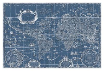 Blueprint World Map, 1630