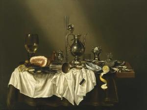 Banquet Piece with Ham, 1656 by Willem Claesz Heda