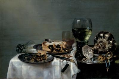 Breakfast Table with Blackberry Pie, 1631 by Willem Claesz Heda