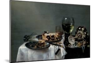Breakfast Table with Blackberry Pie, 1631 by Willem Claesz Heda