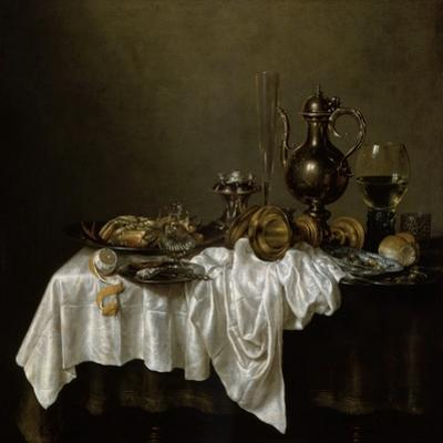 Breakfast with a Lobster, Dutch Painting of 17th Century by Willem Claesz Heda
