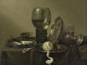 Still Life with Oysters, a Rummer, a Lemon and a Silver Bowl, 1634 by Willem Claesz Heda
