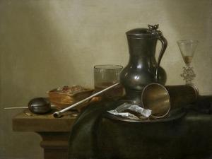 Tobacco Still Life, 1637 by Willem Claesz Heda