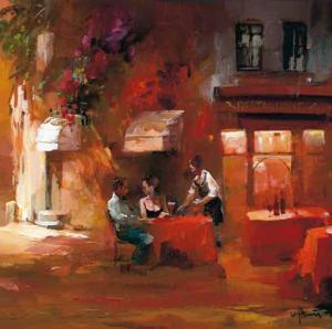 Dinner For Two III by Willem Haenraets