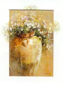 Flowers in a Pot II by Willem Haenraets