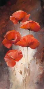 Poppy Bouquet I by Willem Haenraets