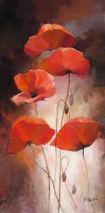 Poppy Bouquet II by Willem Haenraets