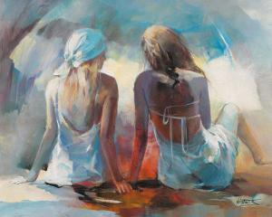 Two Girl Friends I by Willem Haenraets
