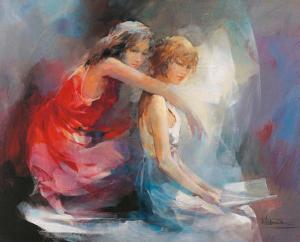 Two Girl Friends II by Willem Haenraets